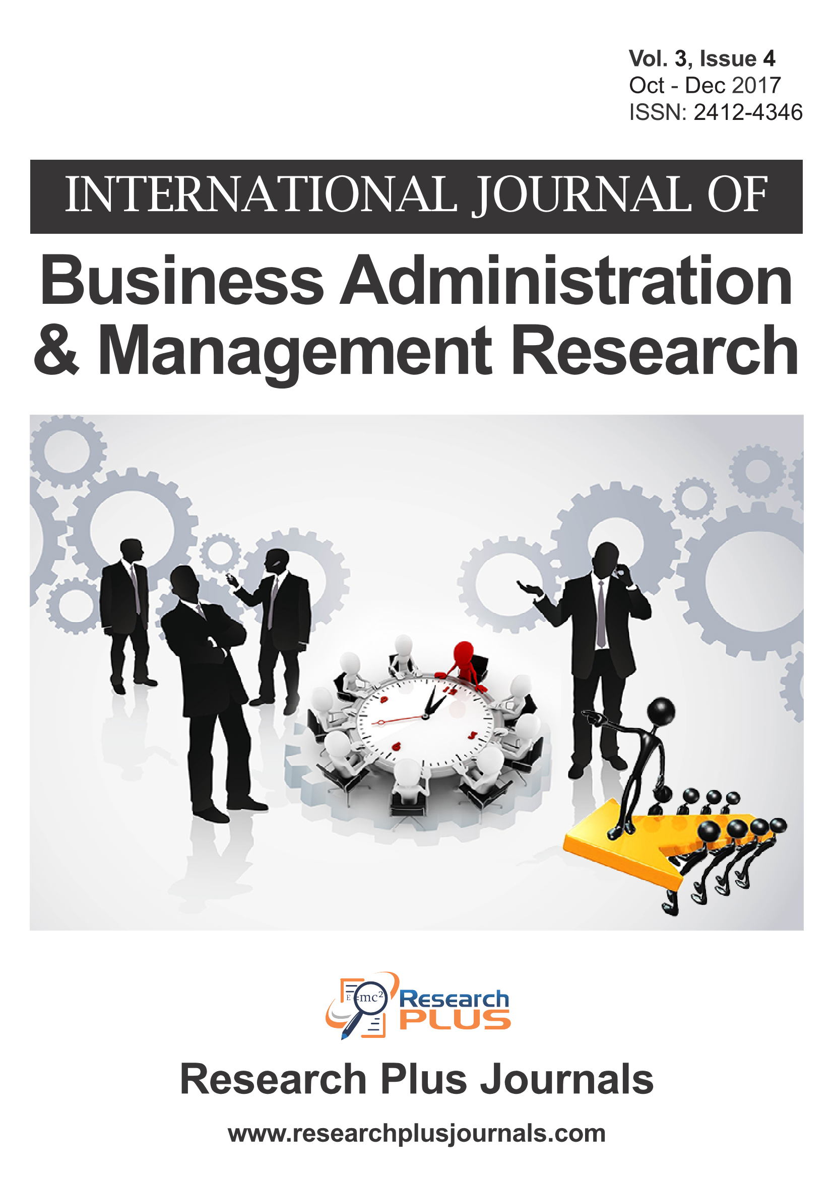 Volume 3, Issue 4, International Journal of Business Administration and Management Research (IJBAMR) (Online ISSN: 2412-4346)