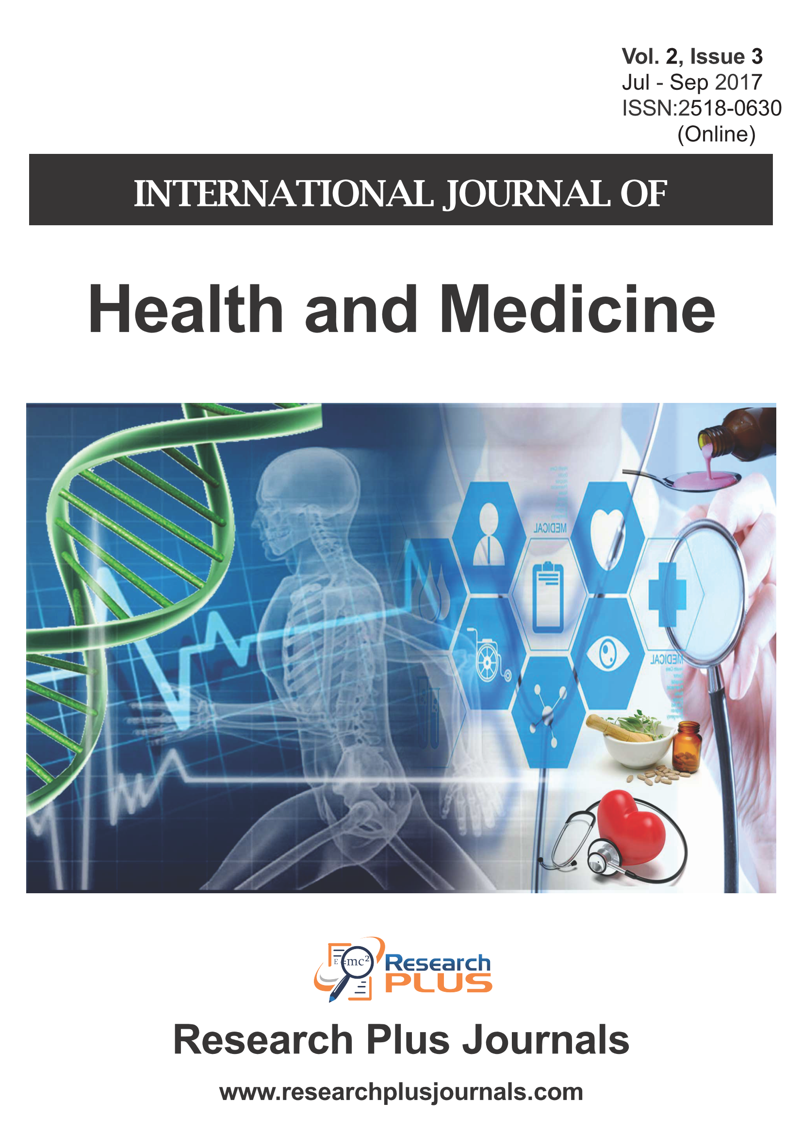 Volume 2, Issue 3, International Journal of Health and Medicine (IJHM) (Online ISSN: 2518-0630)
