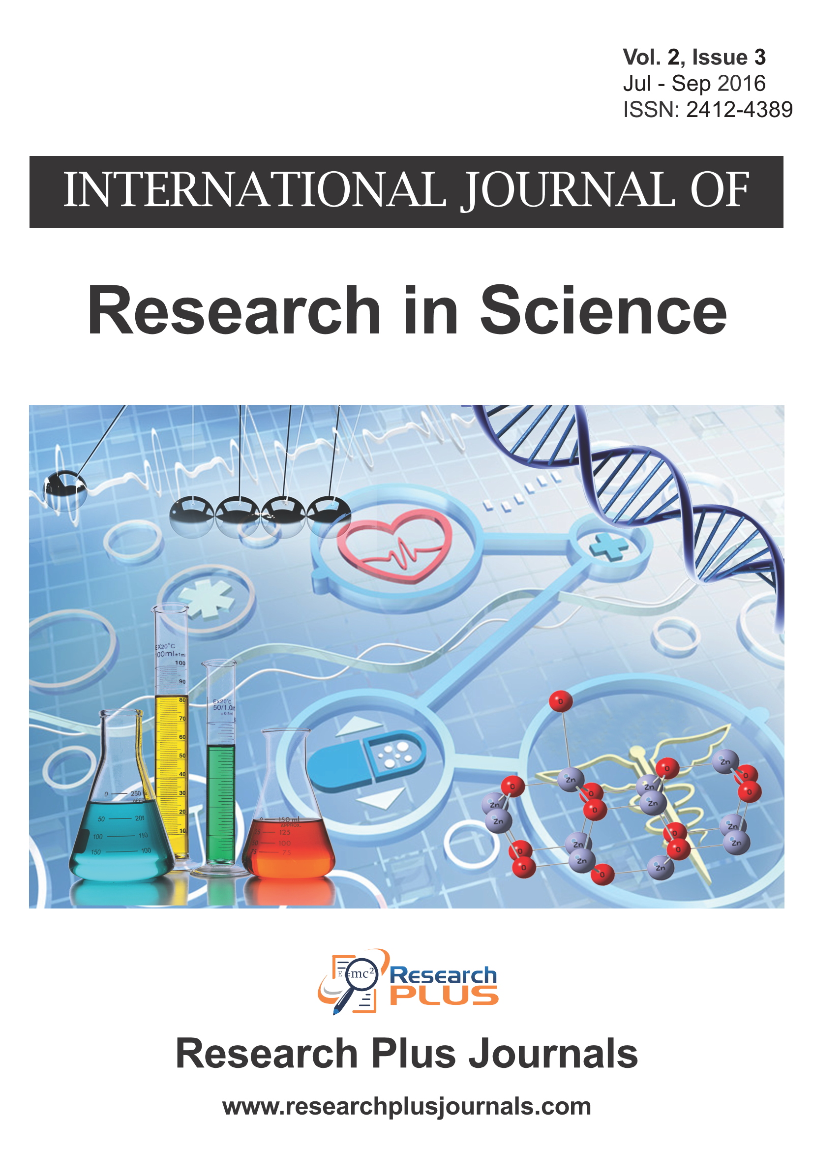 Vol 2 No 3 (2016): International Journal of Research in Science