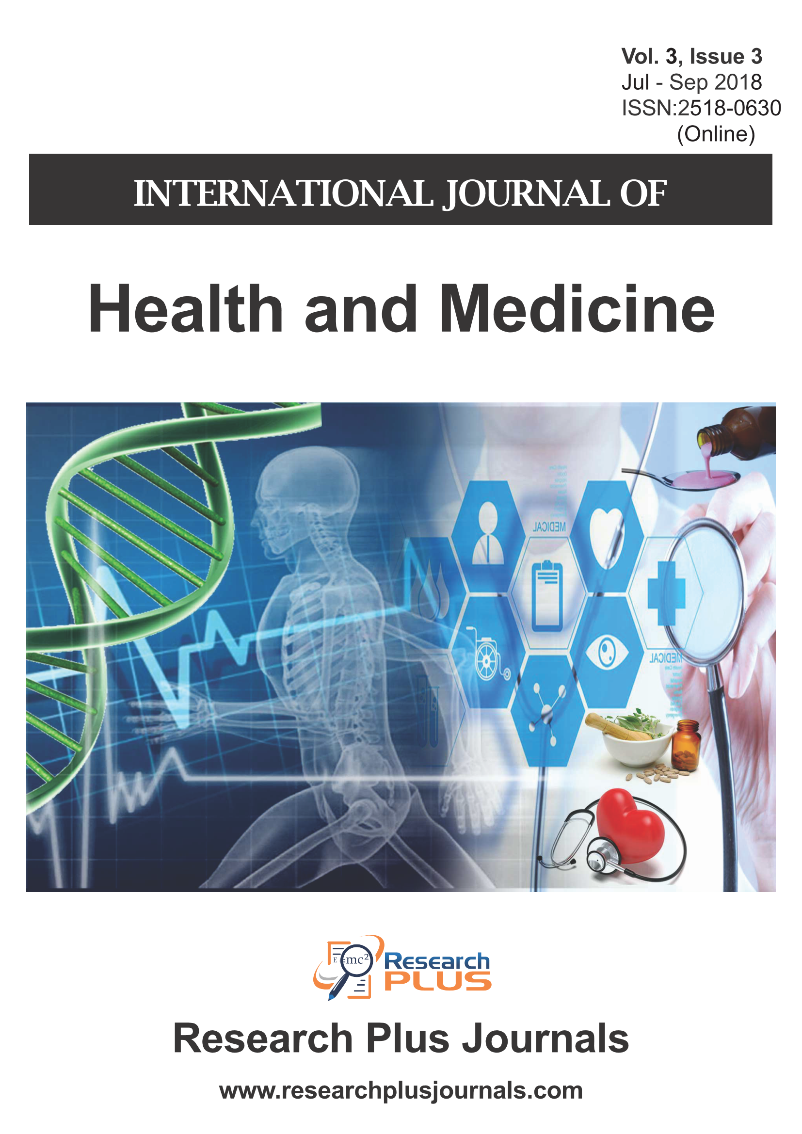 Volume 3, Issue 3, International Journal of Health and Medicine (IJHM) (Online ISSN: 2518-0630)
